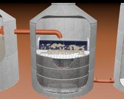 Bodenkoerperfilterschacht
