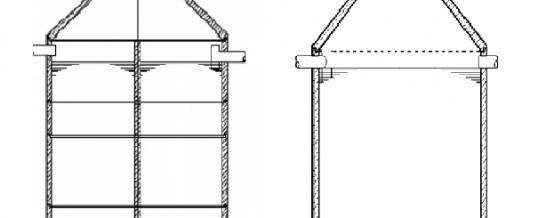 Silosickersaftbehälter