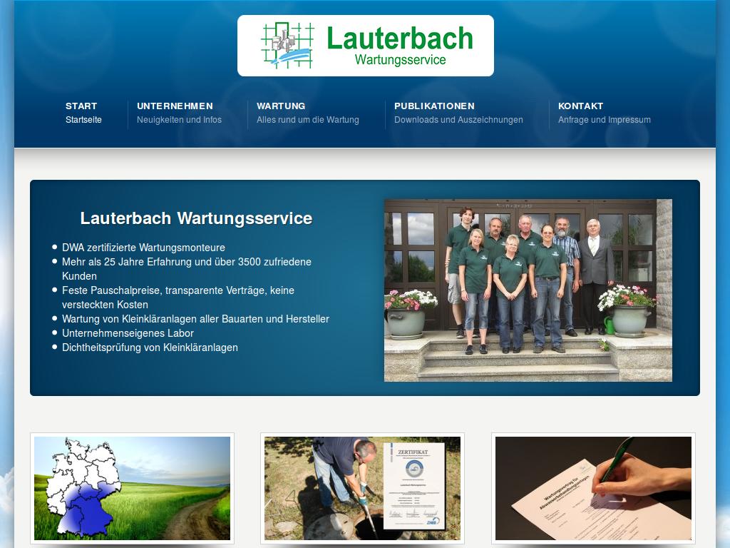 Screenshot der Webseite lauterbach-wartung.de